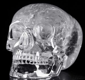 Crystal skull, front view