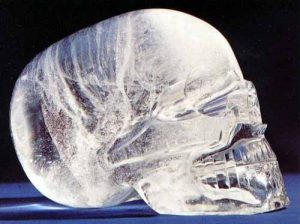 Crystal skull, side view